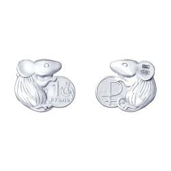"""Сувенир из серебра """"Кошельковая мышь"""""""