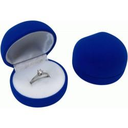 Футляр под кольцо синий