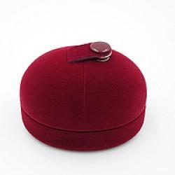 Футляр под кольцо на кнопке красный