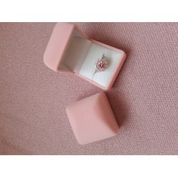 Футляр под кольцо квадратный розовый