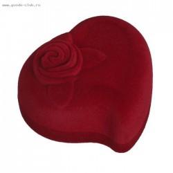 Футляр под кольцо Сердце красный
