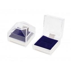 Футляр пластиковый синий (кольцо)