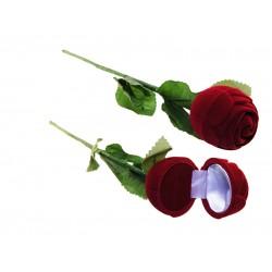 Футляр Роза на стебле (кольцо/серьги)
