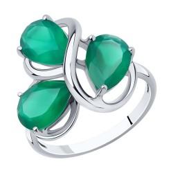 Серебряное кольцо с поделочными камнями