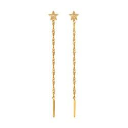 Серьги-подвески из золота со звёздами