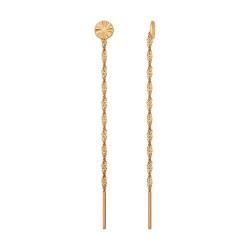 Серьги-цепочки из золота