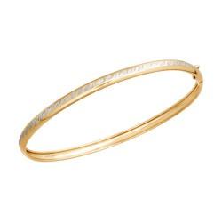 Жёсткий браслет из золота с алмазной гранью