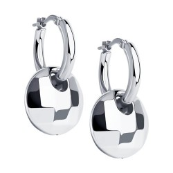 Серьги из серебра с родированием