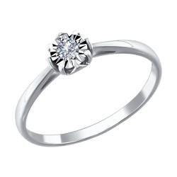 Помолвочное кольцо c бриллиантом