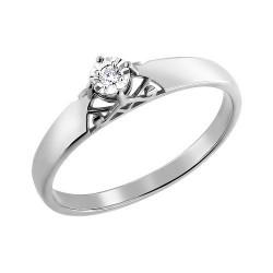 Помолвочное кольцо c драгоценным камнем