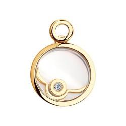 Золотая подвеска в форме круга