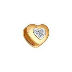 Подвеска шарм из золота с бриллиантами