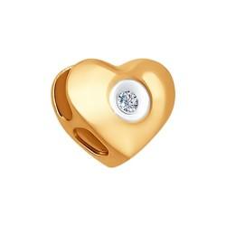 Подвеска-шарм из золота с бриллиантом