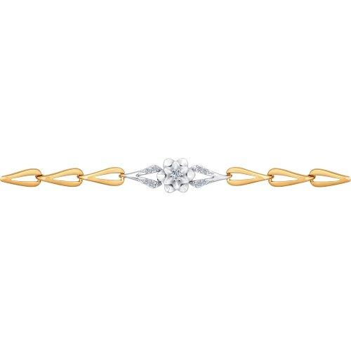 Браслет из комбинированного золота с бриллиантами