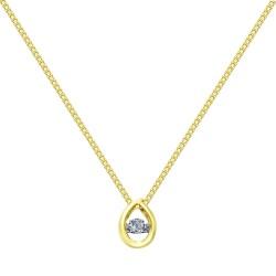Колье из комбинированного золота с бриллиантом