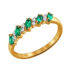 Золотое кольцо с драгоценными камнями