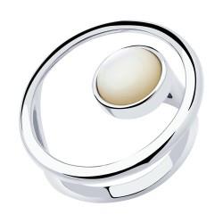Кольцо из серебра с перламутром