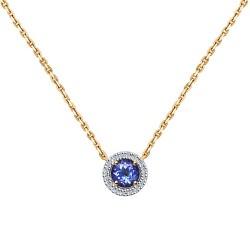 Колье из золота с бриллиантами и танзанитом