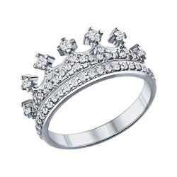 Кольцо-корона с фианитами