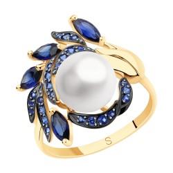 Кольцо из золота с жемчугом и