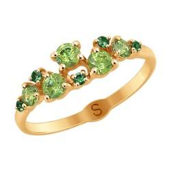 Кольцо из золота со Swarovski Zirconia и фианитами