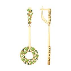 Серьги из золота со Swarovski Zirconia и фианитами