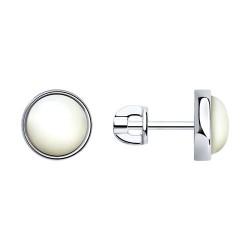 Серьги из серебра с перламутром