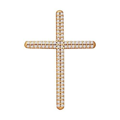 Декоративный крестик с фианитами