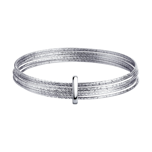 Браслет жёсткий из серебра с алмазной гранью