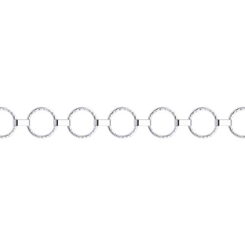Браслет из серебра с алмазной гранью
