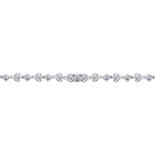 Браслет из серебра с фианитами