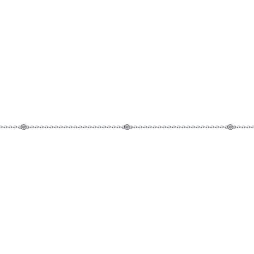 Браслет из серебра с эмалью и фианитами