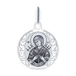 Иконка из серебра с лазерной обработкой