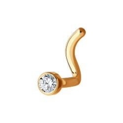 Пирсинг из золота с фианитом (ПРОБА 375)
